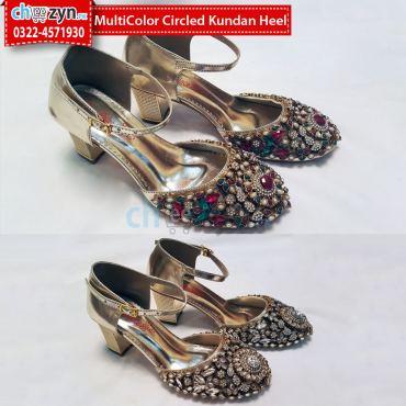 MultiColor Circled Kundan Heel