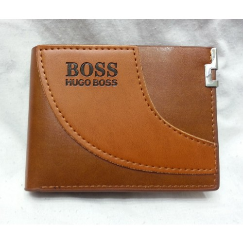 Hugo Boss Brown Leather Wallet