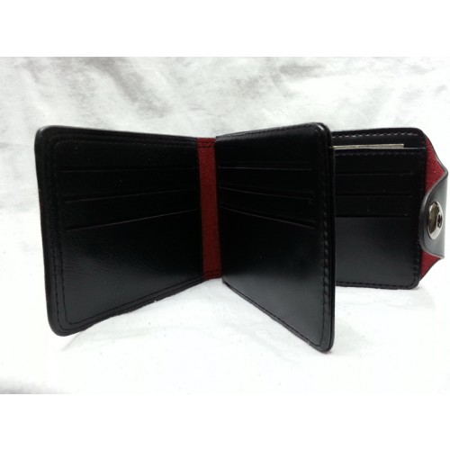 LMX Pure Leather Black Wallet