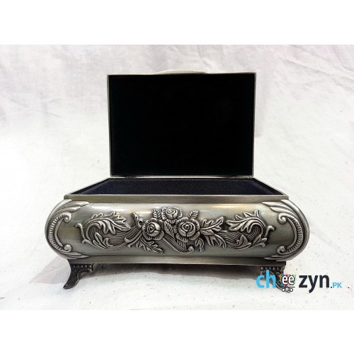 Antique Metal Crafted Jewellery Box