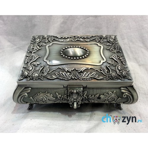 Antique Metal Crafted Big Jewellery Box