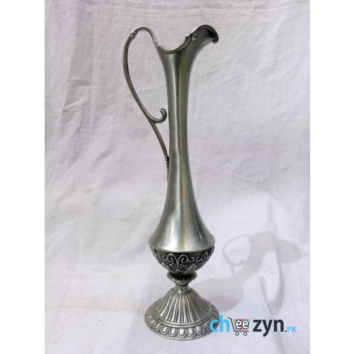 Antique Carved Metal Tabletop Vase