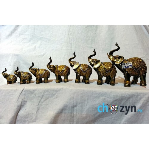Unique Metal Crafted Elephant Set
