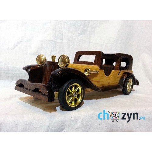 Antique 1930 Wooden Hand-crafted Car