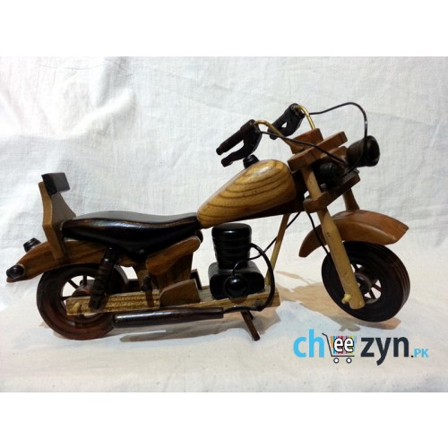 Antique Handmade Wooden Motorbike