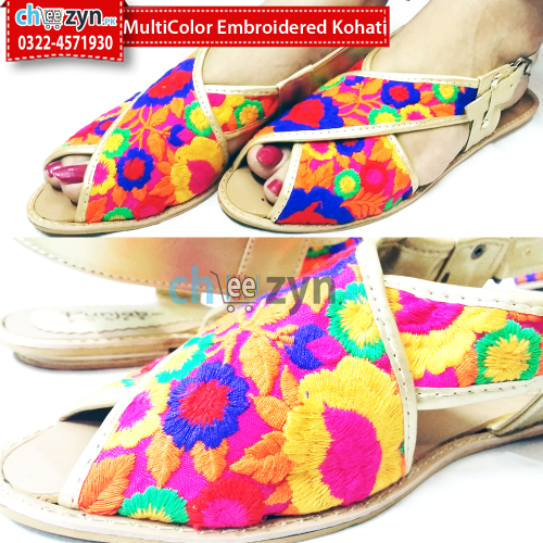 Multicolor Embroiderd Kohati