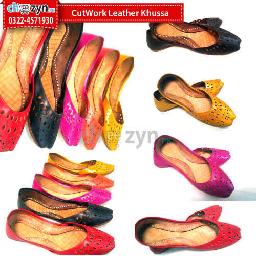 CutWork Leather Khussa