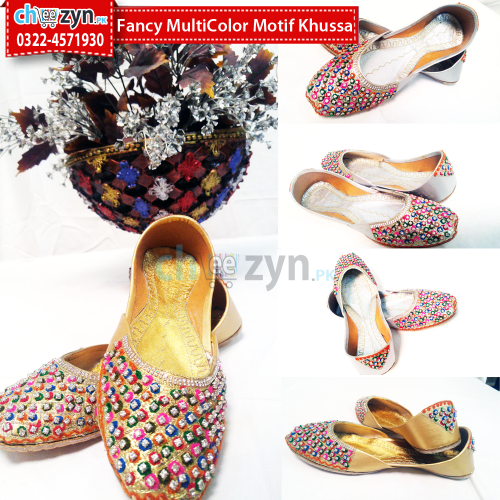 Fancy Multicolored Motif Khussa