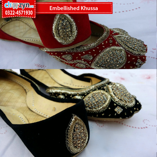Hand Made Embellished Khussa