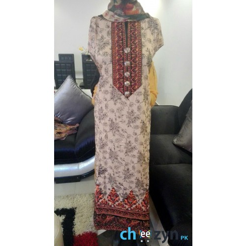 Chiffon Embroidered 4 Piece Suit