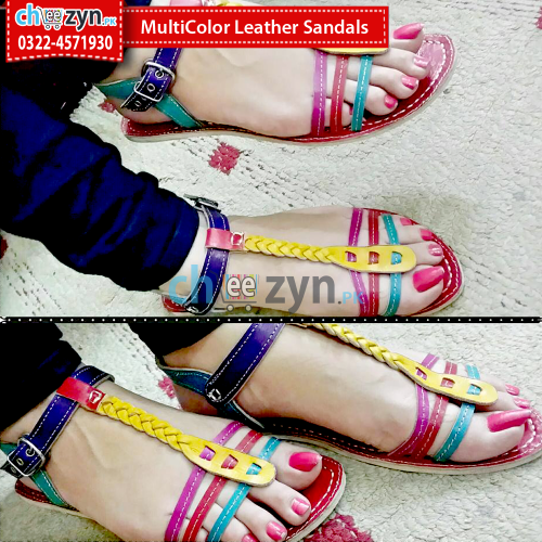 Multicolored Leather Sandals