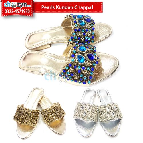 Pearls Kundan Chappal