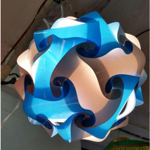 White and Blue Round Lamp