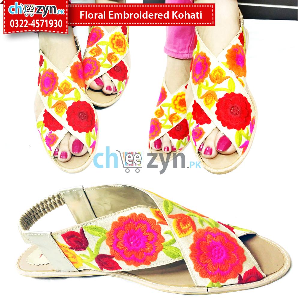 Floral Embroidered Kohati Cheezyn Pk