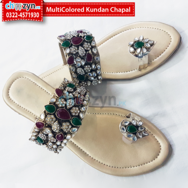 MultiColored Kundan Chapal