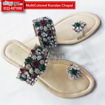 MultiColored Kundan Chapal