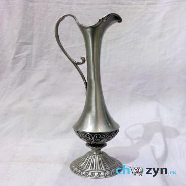 Antique Carved Metal Tabletop Vase