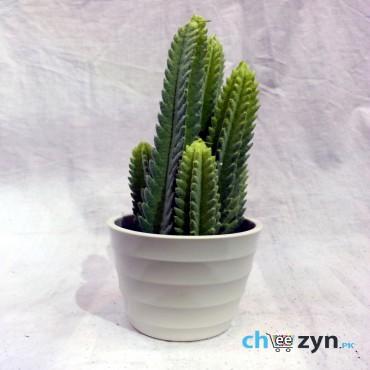 Artificial Cactus Plant Pot - Medium