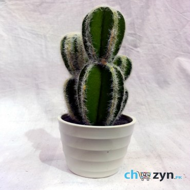Artificial Cactus Plant Pot - Medium