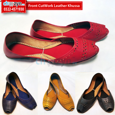 Front CutWork Leather Khussa