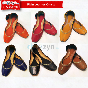 Plain Leather Khussa