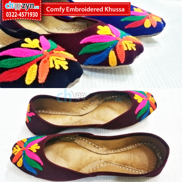 Comfy Embroidered Khussa