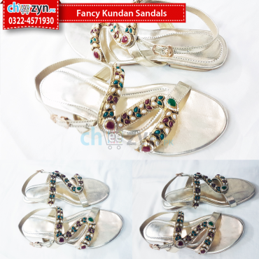 Fancy Kundan Sandals
