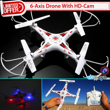 DEAL - 6 Axis Gyro RC Quadcopter + HD Camera