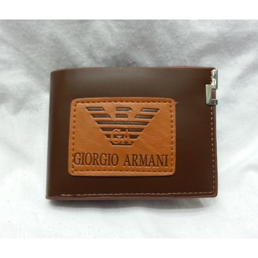 Giorgio Armani Brown Leather Wallet