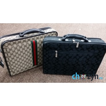 Gucci, Louis Vuitton & Armani Laptop bags