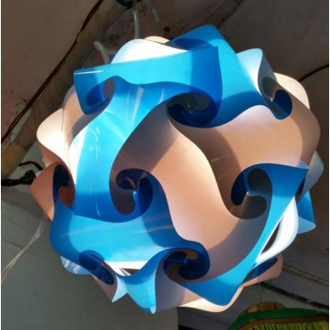 White and Blue Round Lamp