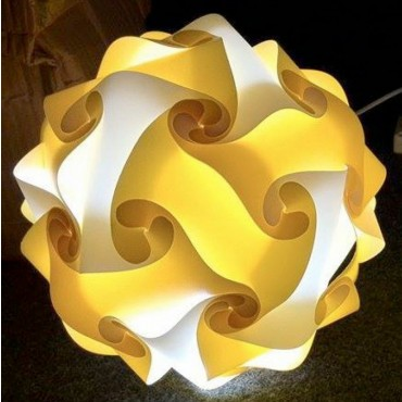 White and Yellow Round Lamp