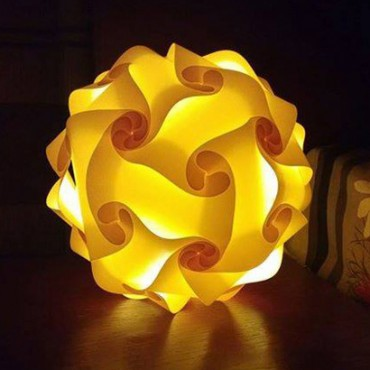 Yellow Round Lamp