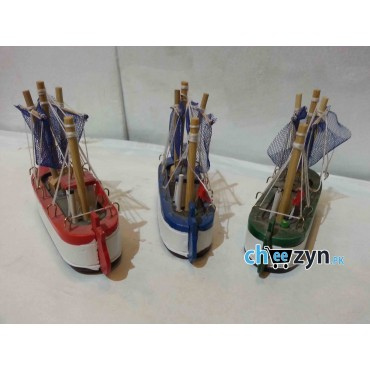 3 Pcs Mini Hand Made Wooden Ship Model Set