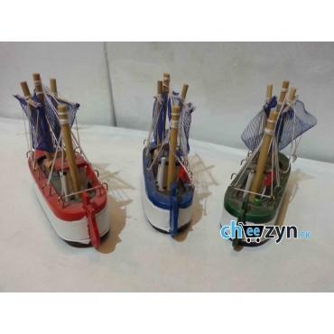 3 Pcs Mini Hand Made Wooden Ship Model Set
