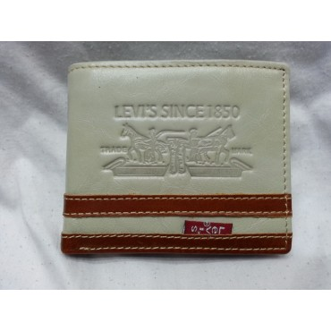 Levis Pure White Leather Wallet