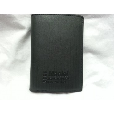 Maolei Pure Leather Men's Long Wallet - Black