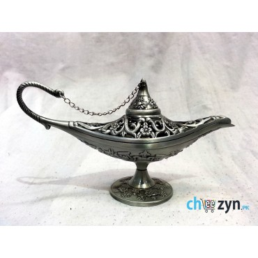 Rare Antique Silver Metal Aladdin Lamp