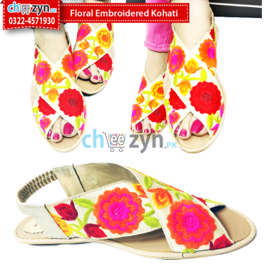 Floral Embroidered Kohati