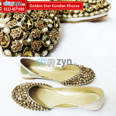 Golden Star Kundan Khussa