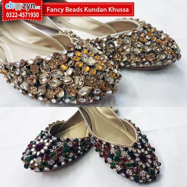 Fancy Beads Kundan Khussa