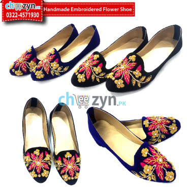 Handmade Embroidered Flower-Shoe