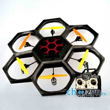 Black Widow Stunt Hexacopter With Video Camera Support