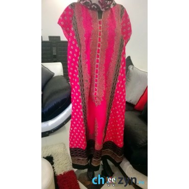 Piece Pink Winter Viscose Suit