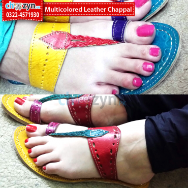 Multicolored Leather Chappal