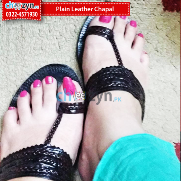 Plain Leather Chappal
