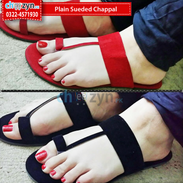 Plain Sueded Chappal