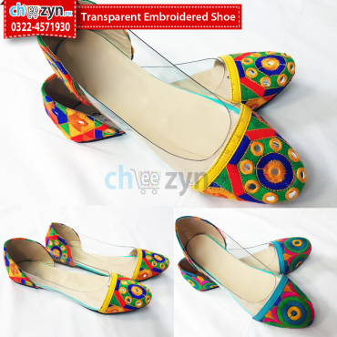 Transparent Embroidered Shoe