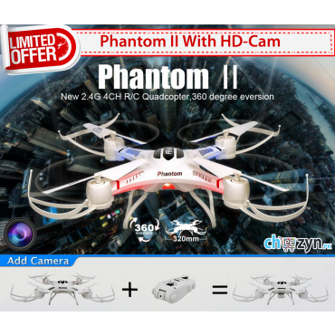 DEAL - Phantom 2 Vision 4CH RC Quadcopter + HD Camera